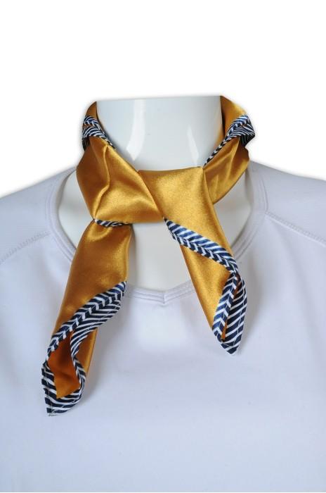 SF044 訂製時尚絲巾 光面南韓絲絲巾 金色 50*50cm 絲巾生產商
