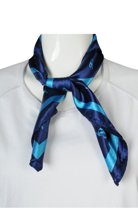 SF045 訂製春秋絲巾 南韓印花絲巾 logo 55*55cm 絲巾生產商