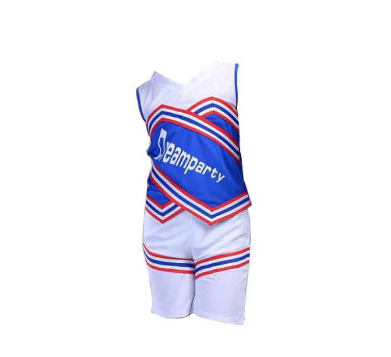 SKCU016 設計兒童啦啦隊服款式   製作無袖啦啦隊服款式   自訂足球寶貝啦啦隊服款式   啦啦隊服專營