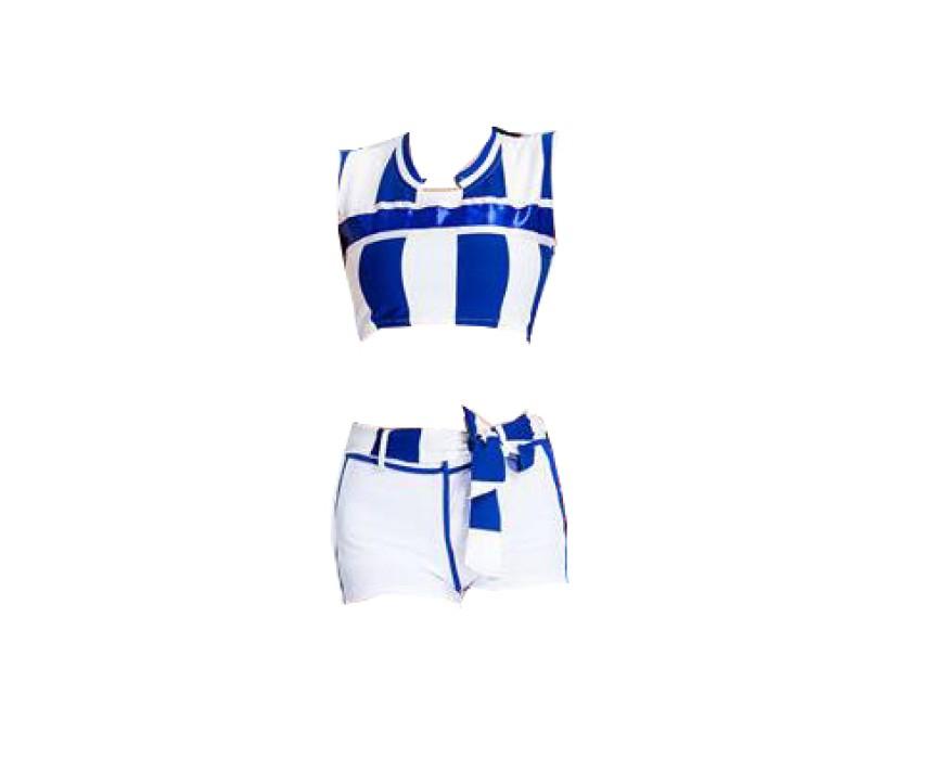 SKCU018 訂造團體表演啦啦隊服款式   製作分體啦啦隊服款式    自訂無袖啦啦隊服款式   啦啦隊服生產商