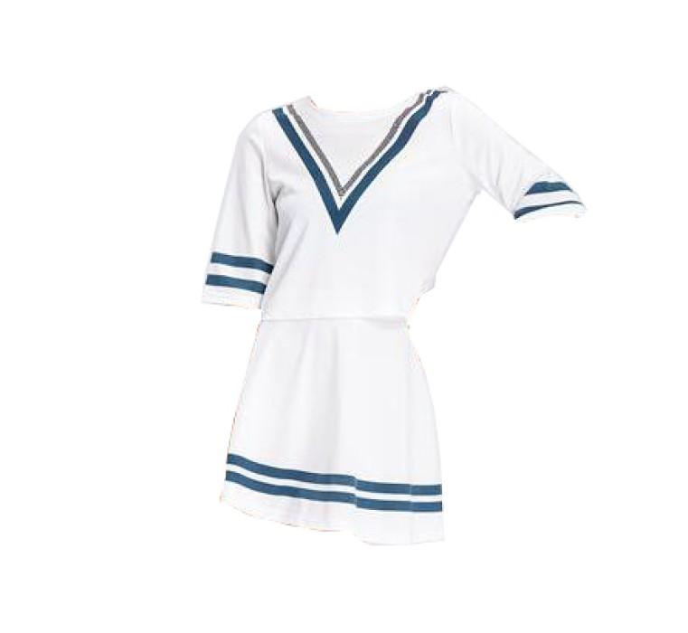 SKCU019 訂做短袖啦啦隊服款式   自訂足球寶貝啦啦隊服款式   製作時尚啦啦隊服款式   啦啦隊服製造商