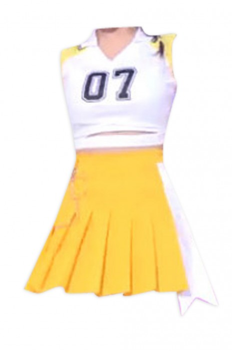 SKCU021  訂購分體女款啦啦隊服  網上下單露腰啦啦隊服 設計啦啦隊套裝 啦啦隊服hk中心