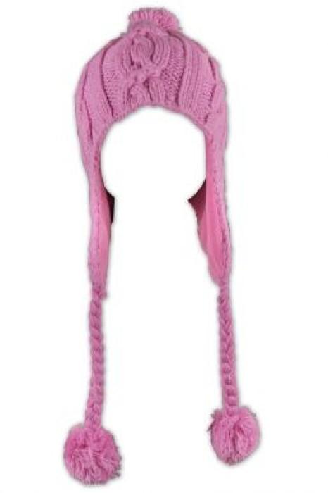 BEANIE012  可愛毛球線帽 訂購 針織毛線護耳冷帽 冷帽網站