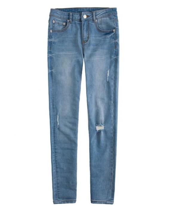 JS006  訂造修身牛仔褲款式   設計女裝牛仔褲款式   修身 彈力   製作彈力牛仔褲款式   牛仔褲中心 藍色