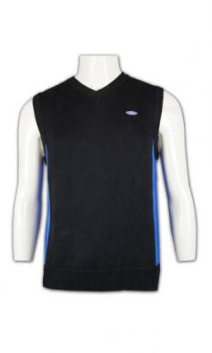 LBX021 V領冷背心 在線訂購 撞色款式冷背心 冷背心搭配 冷背心公司