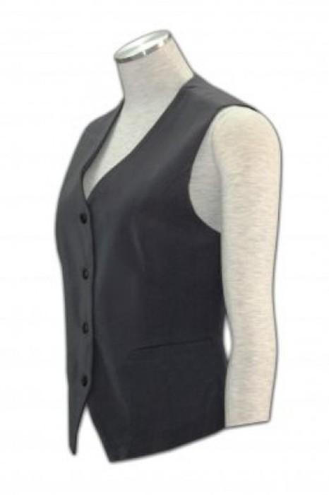 WC001 訂造西裝背心外套  馬甲背心外套款式 馬甲設計選擇 西裝批發商 黑色