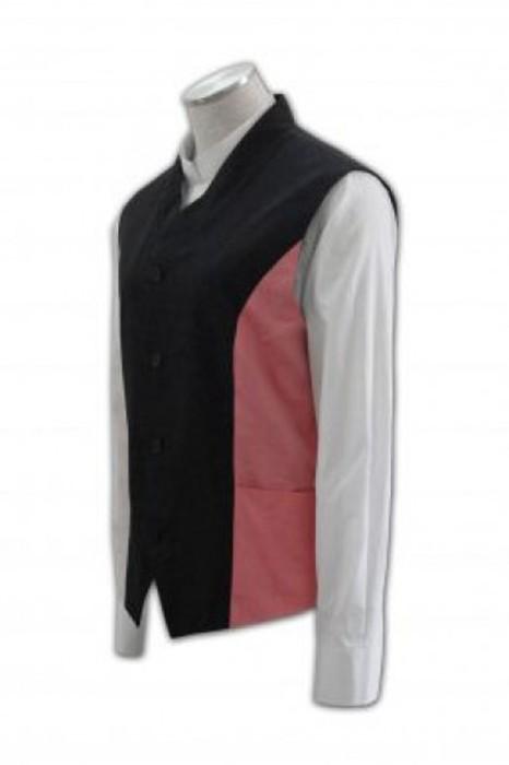 WC002 訂造西裝背心 拼接撞色背心 西服背心個性訂製 西裝香港公司 撞色 黑 粉