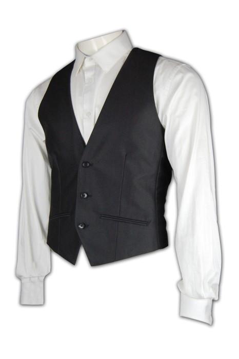 WC003 訂製馬甲背心西裝 修身馬甲西服 西服搭配 西服香港公司 黑色