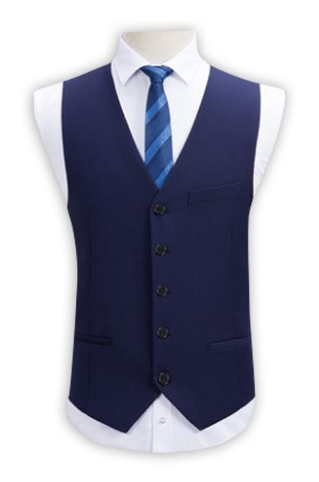 WC012 設計彈力西裝馬甲   正裝男士修身西裝背心 黑色西服馬夾外套 馬甲背心專營 藍色