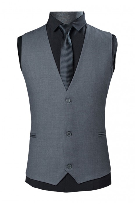 WC017  訂購商務修身西裝背心  灰色男士西裝馬甲  休閒西服背心  職業馬甲男背心 灰色