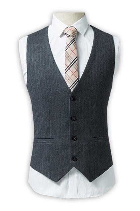 WC020  製作修身條紋西裝背心  男士商務休閒西裝馬甲 英倫復古背心坎肩 西裝背心專營 灰色