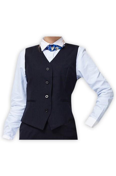 WC022  設計職業女裝西裝馬甲  職業馬甲背心西裝  酒店工作服空姐制服西裝背心 黑色