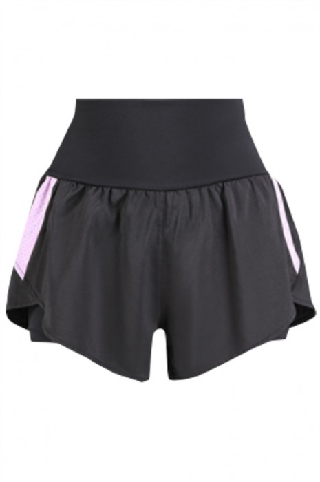 SKSP010 製造速乾女裝運動短褲  訂製瑜伽 跑步 健身 運動 防走光運動短褲  彈力高腰 運動短褲專門店