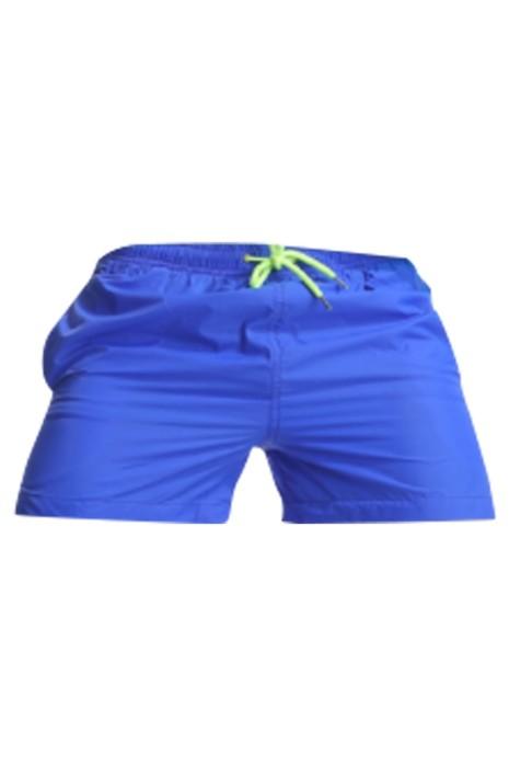 SKSP012 製造速乾三分運動短褲 訂做橡筋腰圍 抽繩 魔術貼後袋 運動短褲製衣廠