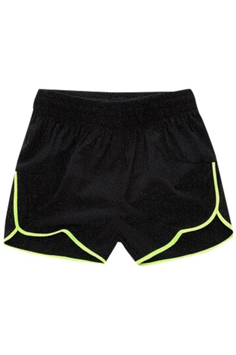 SKSP018 製造運動三分短褲 馬拉松 健身 跑步 設計抽繩橡筋腰圍運動短褲 運動短褲中心