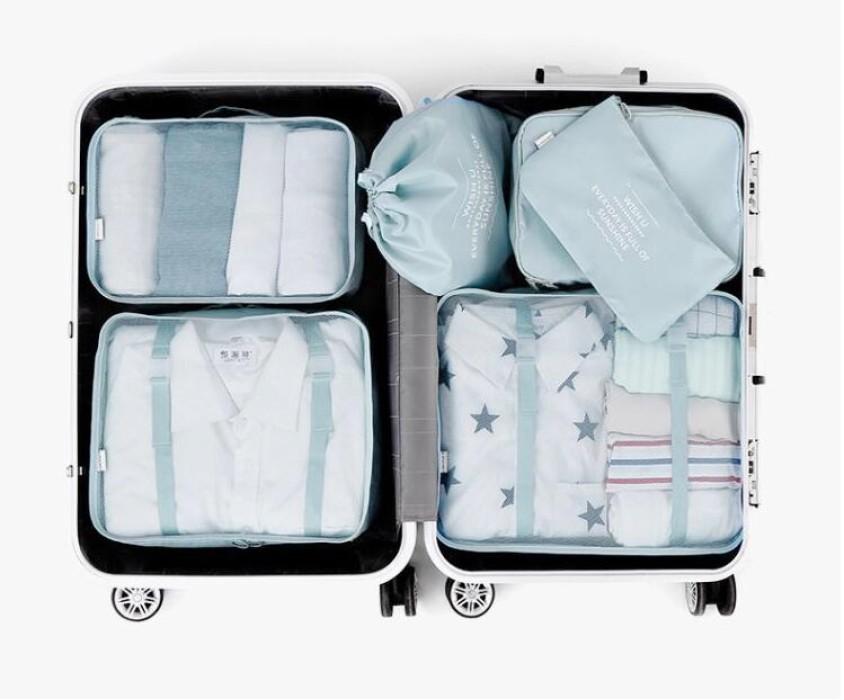 SKTS005 訂做旅行收納袋套裝款式   自訂分裝收納袋款式   製作行李收納袋款式    旅行收納袋製衣廠