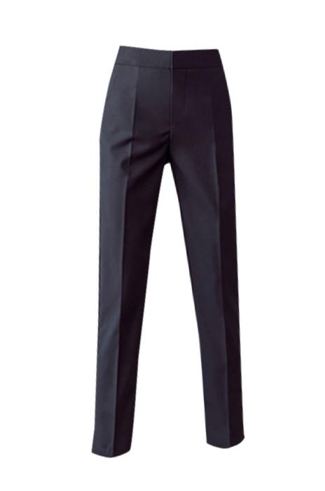 WMT002 訂購女士高腰西褲 九分西裝職業直筒褲  寬鬆休閒西褲  時尚修身女西褲 黑色