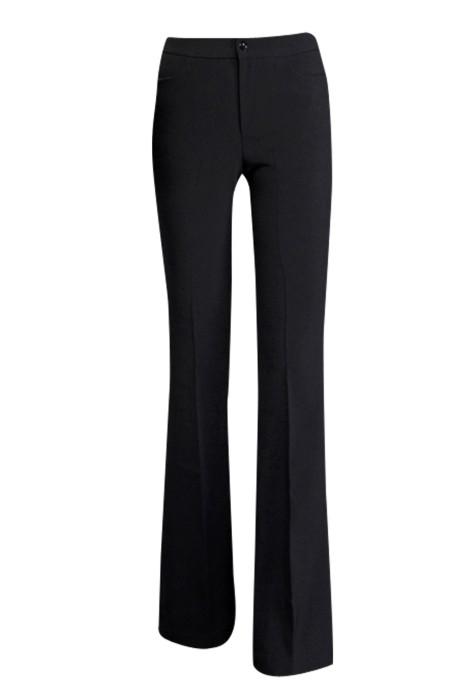 WMT003 訂購黑色工作褲 女正裝西褲 女職業裝褲子 女夏薄款長褲  時尚修身 緊身剪裁款 黑色