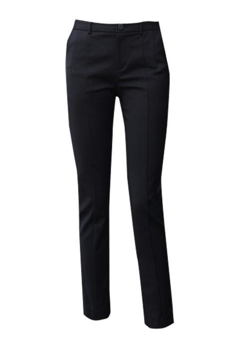 WMT004  供應職業薄款女西褲 窄腳褲直筒西裝褲  九分修身女西褲 時尚修身 緊身剪裁款 黑色