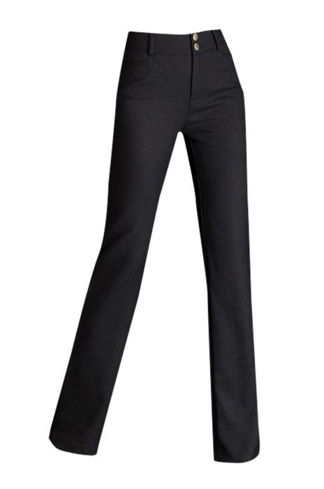 WMT005  設計直筒褲女高腰長褲 供應夏季西裝褲 休閒西褲職業工作女西褲 時尚修身 緊身剪裁款 黑色