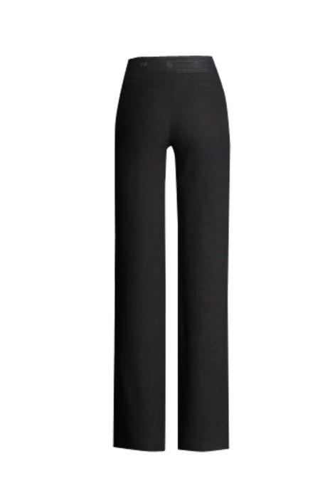 WMT006 設計亞麻闊腿女西褲 女薄款長褲高腰顯瘦 棉麻小闊腿西褲 女西褲hk中心 黑色