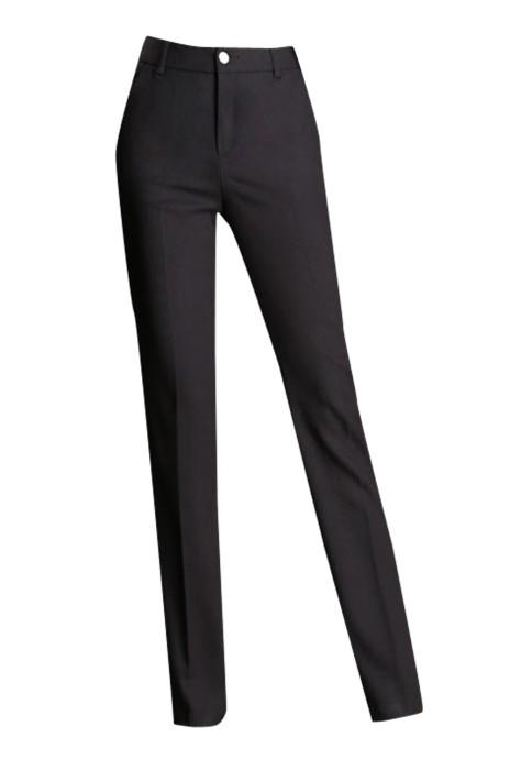 WMT007 設計女西裝褲 訂購直筒正裝長西褲 製造OL職業女褲高腰西褲  休閒西褲窄腳褲 深灰色