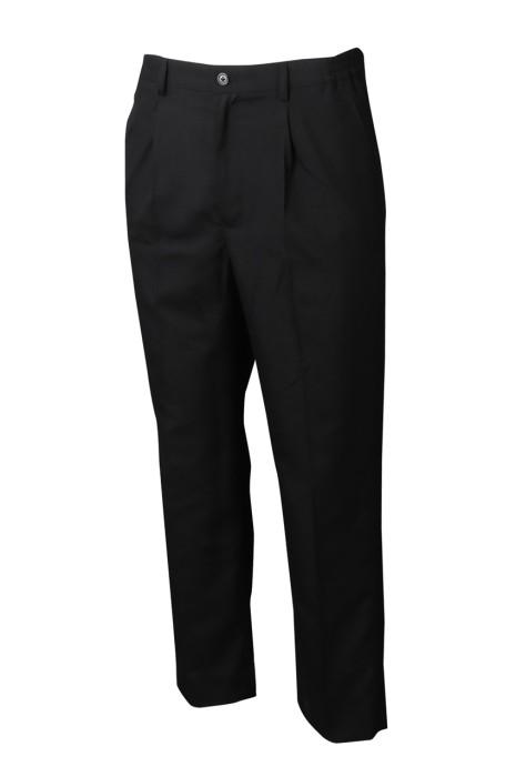 WMT010 製造女裝西裝 時尚休閒女西裝 女西褲供應商 黑色 弘發-TC128*60厚紗卡