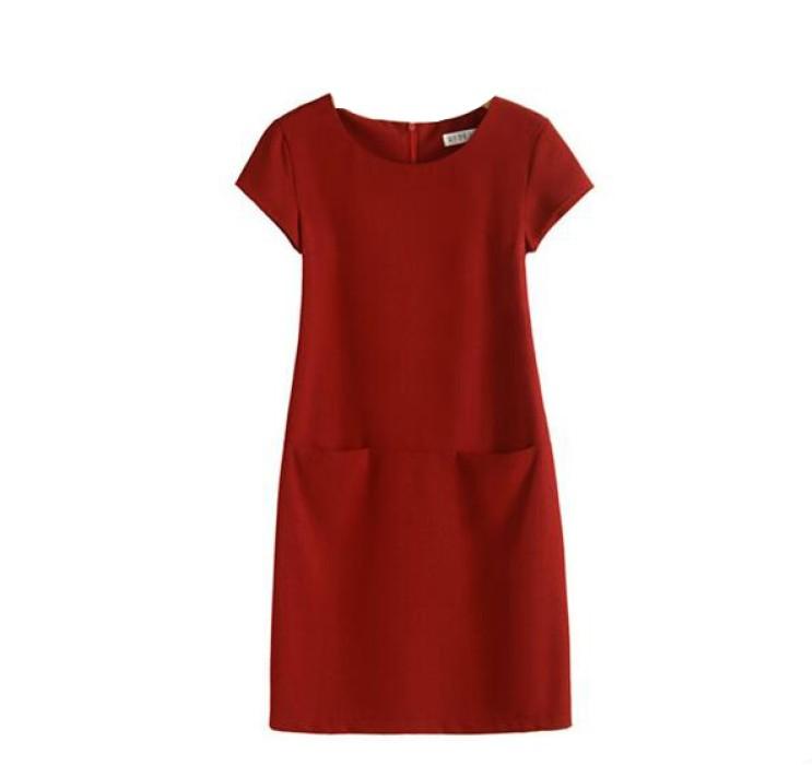 SKPD008 訂造直筒職業連身裙款式    製造A字裙職業連身裙款式   A字裙   自訂顯瘦職業連身裙款式   職業連身裙製衣廠