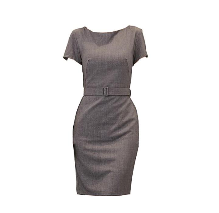 SKPD010 自製修身職業連身裙款式   訂造時尚OL職業連身裙款式  連身裙 設計短袖職業連身裙款式   職業連身裙專營