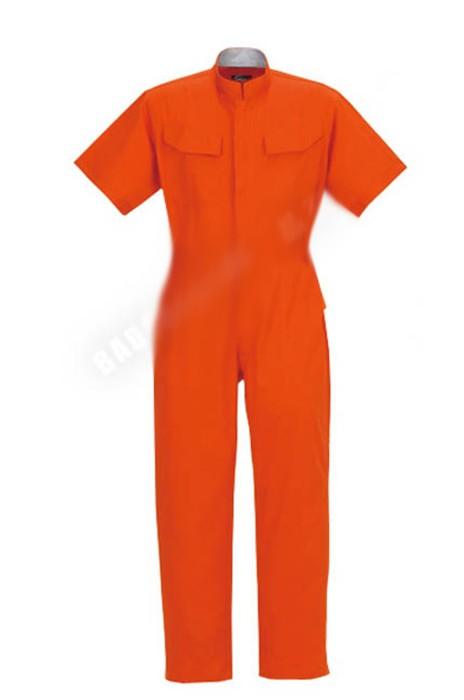SKWK014  短袖汽修工作服 防靜電防水防油 阻燃連體工作服  網上下單連體工作服