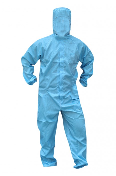 SKWK018 防靜電服連體防塵服 噴漆電子工作服 帶帽防護服 無塵服 潔凈服 有口袋 工作服專營