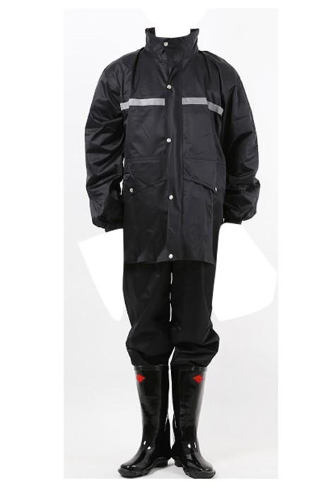 SKWK021 訂購雨衣褲套裝  分體連帽雨衣 發光條安全雨衣騎行工作服