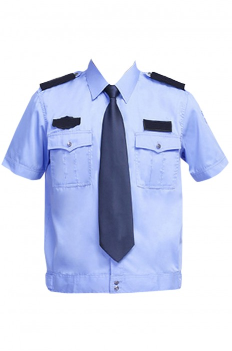 SKWK046 訂製夏季短袖保安襯衣 物業安保制服 保安制服生產商