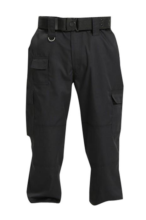 SKWK048 網上下單黑色多袋褲  設計工作保安褲  加長腰帶耳仔 懸掛膠扣 對講機掛扣 保安褲制服公司