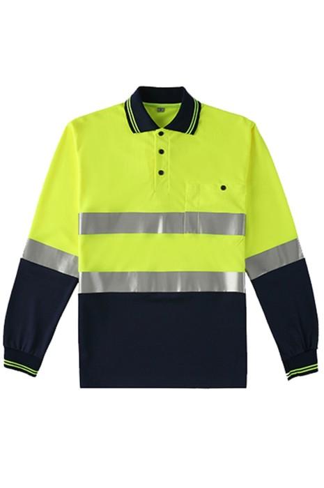 SKWK049 網上訂購反光條T恤工作服 交通安全團體服 設計polo領工作服  工作服供應商