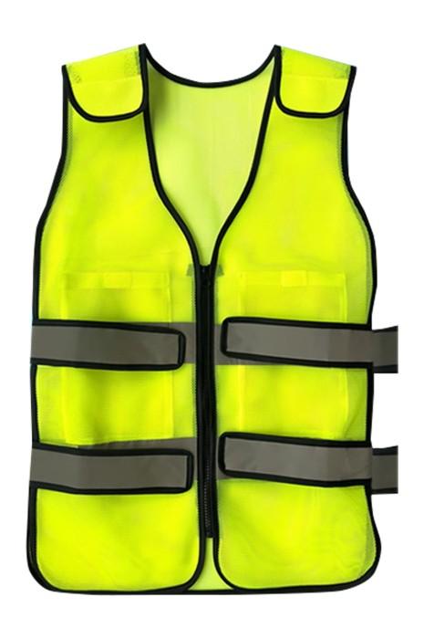 SKWK056 製造降溫反光條安全背心馬甲 透氣 防暑 設計拉鏈反光條馬甲背心 工作服專門店