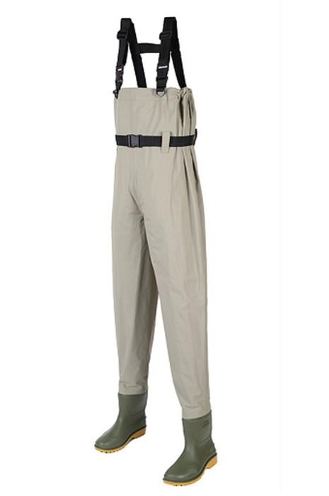 SKWK059 大量訂製連身涉水褲  訂製腰部調節加厚鞋底涉水褲 涉水褲供應商