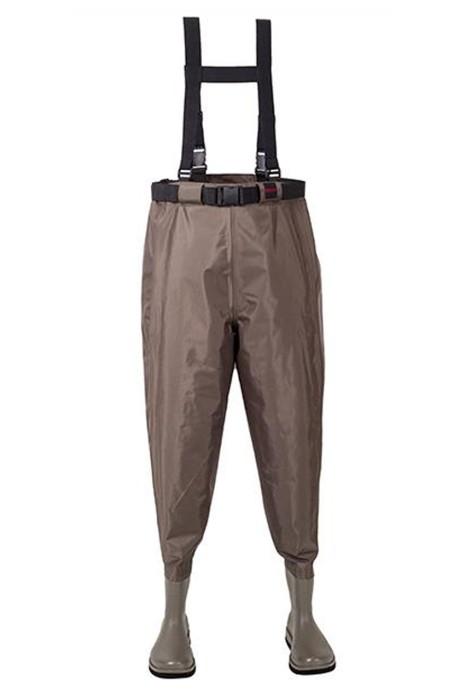 SKWK063 大量訂製齊腰連身涉水褲  訂製魔術貼口袋防水 捕魚 涉水褲生產商