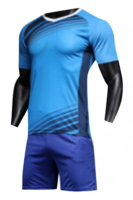 SKWTV041 訂做足球訓練隊衫 短袖套裝 波衫生產商