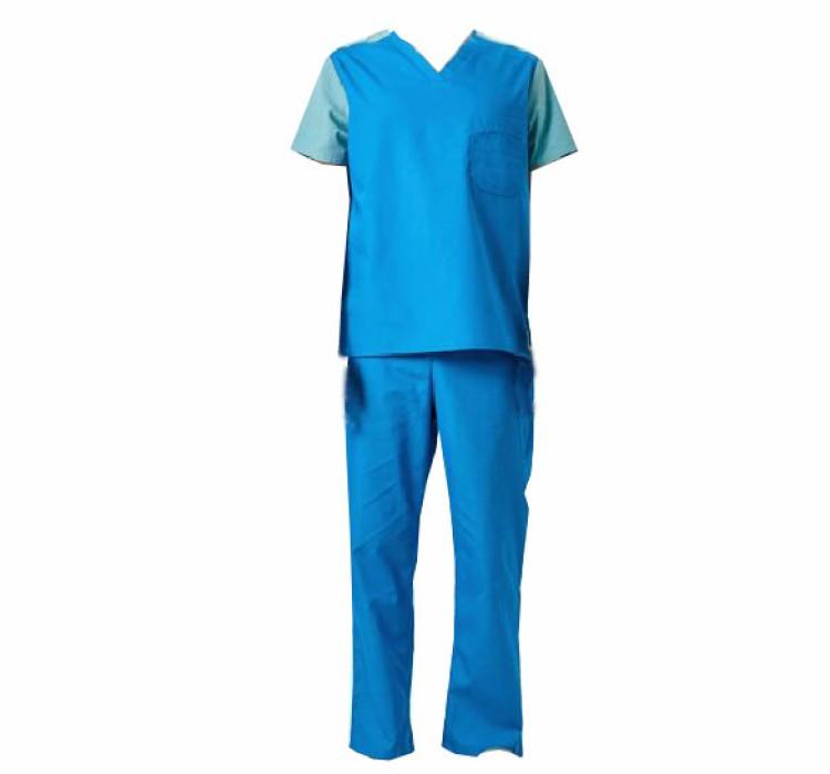 SKSN008 製造手術袍 寵物醫院工作服 分體套裝洗手服  手術袍製衣廠