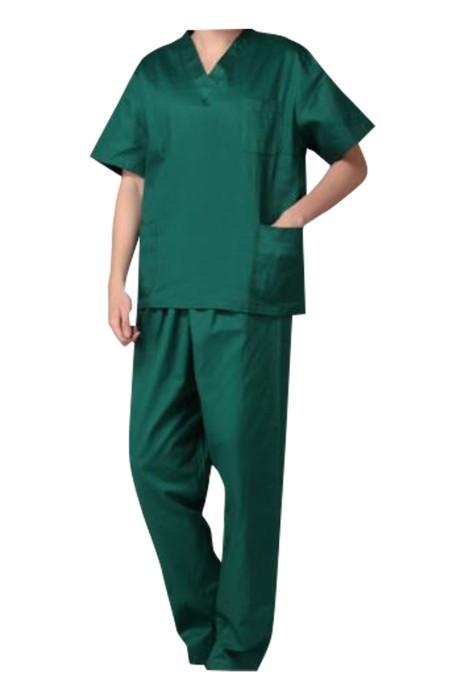 SKSN027 大量訂製淨色手術袍 設計寵物店 醫院工作服 手術袍中心