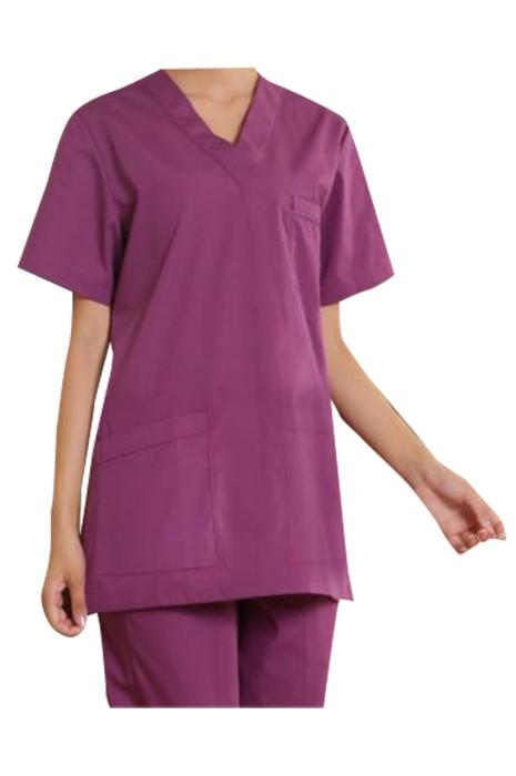 SKSN028 製造短袖套裝手術袍 設計V領手術袍 手術袍供應商