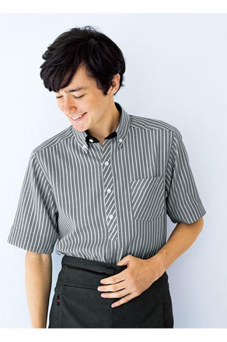 SKBB005  訂購條紋餐廳侍應服  設計西餐咖啡店制服 制服hk中心