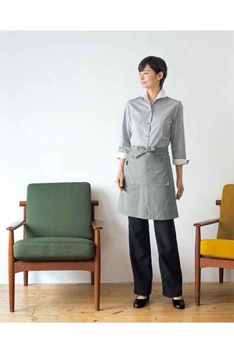 SKBB010 訂購西餐廳半身圍裙 灰色侍應圍裙  圍裙製造商