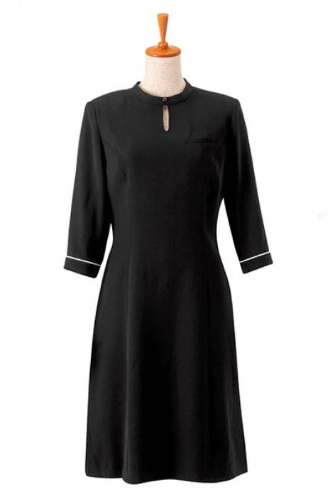 SKBB015 設計裙裝西餐咖啡店制服  長袖裙款侍應服  制服製衣廠