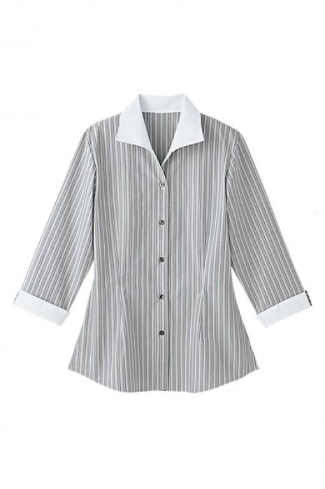 SKBB003 訂購水療休閒中心制服  水療中心員工上衣 條紋襯衫 恤衫 制服hk中心