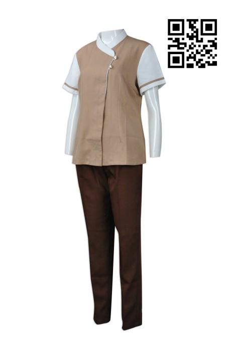 SKBB022  訂造酒店清潔服  度身訂造清潔服   網上下單清潔服  清潔服製衣廠