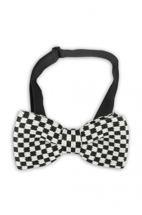 SUBO18  設計黑白格子領結 韓版男士領結 時尚百搭領結 領結製造商