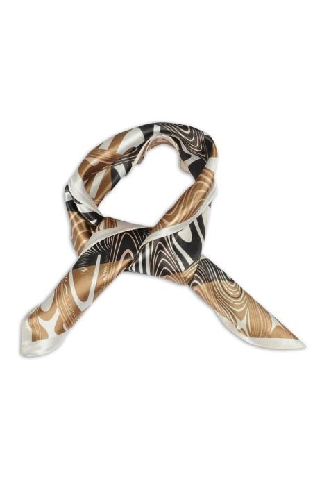 SKN13 訂做女士高級時尚方巾 仿真絲小方巾 領巾生產商