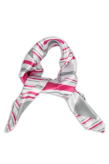 SKN18 設計春秋時尚領巾 職業領巾 仿真絲小方巾 領巾製造商